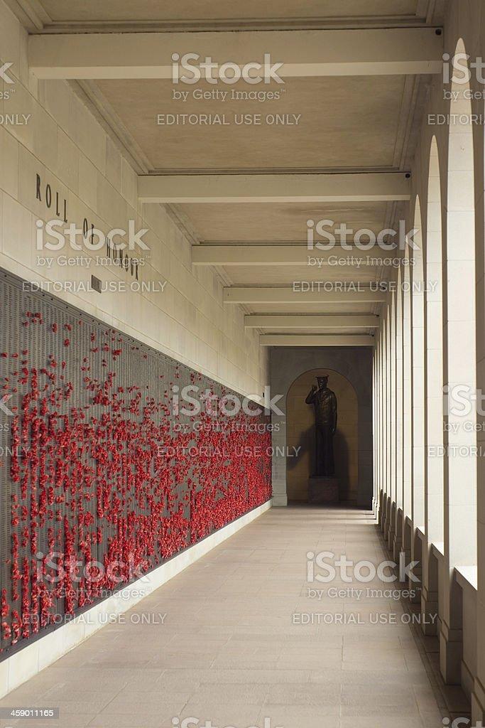 Australian War Memorial - Wall of Remembrance royalty-free stock photo