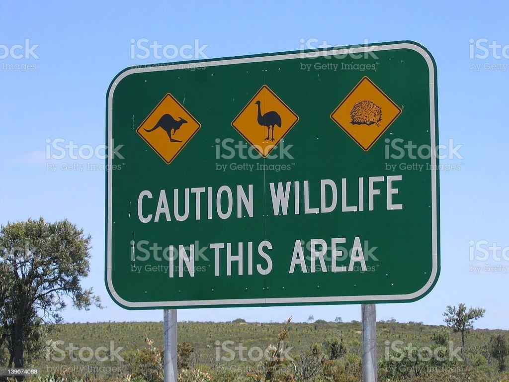 Australian Wildlife sign royalty-free stock photo
