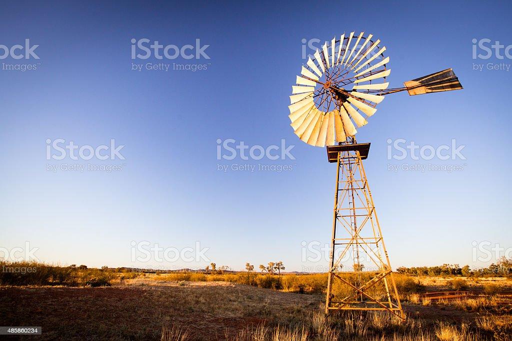 Australian Windmill stock photo