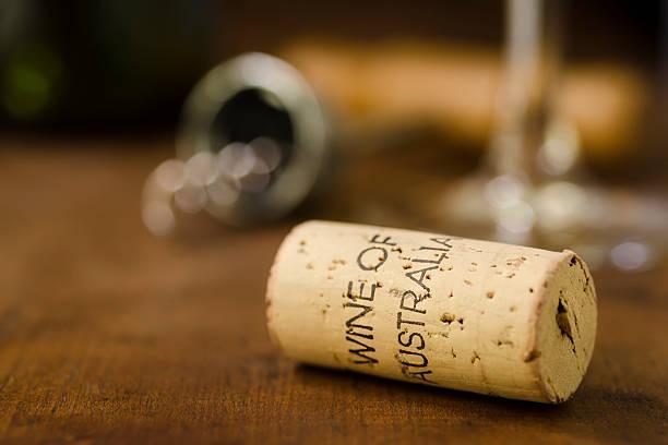 Australian Wine Cork - Horizontal stock photo