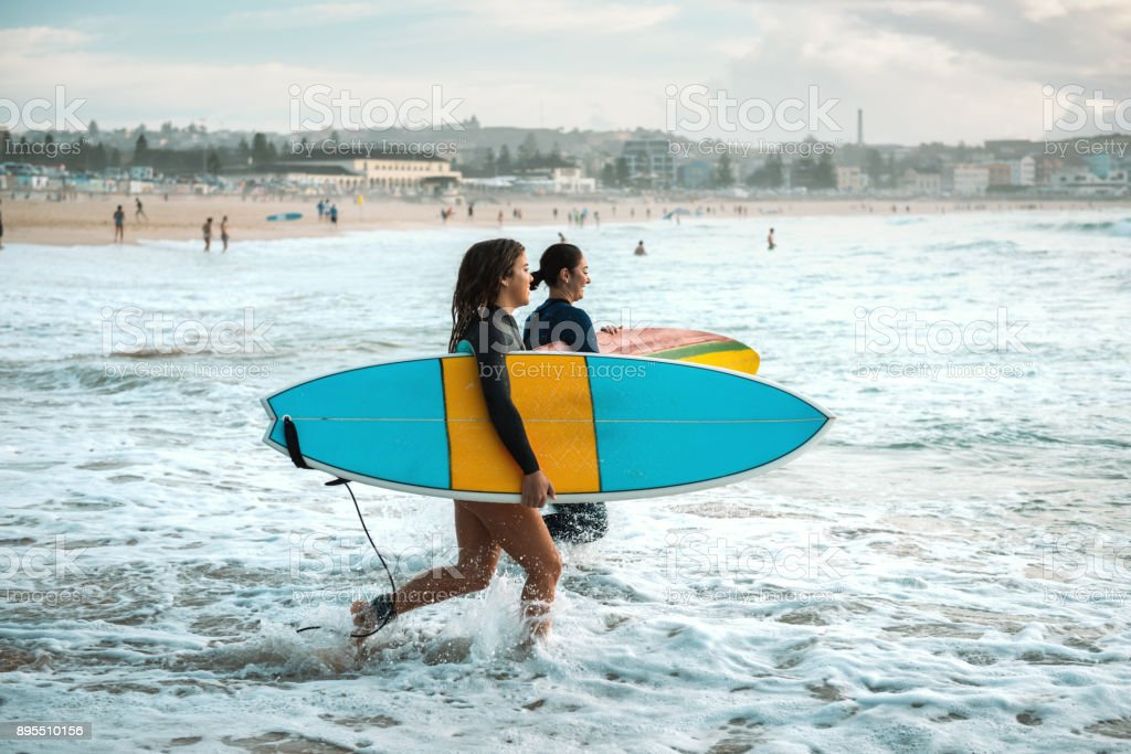 Australians are addicted to surfing and healthy living stock photo
