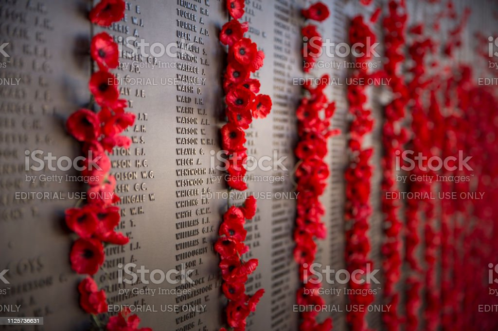 Australians lost in war, remembered stock photo