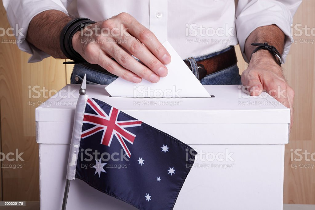 Australians to vote stock photo