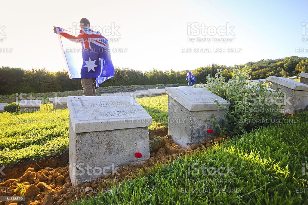 Australians visit Gallipoli on ANZAC Day stock photo