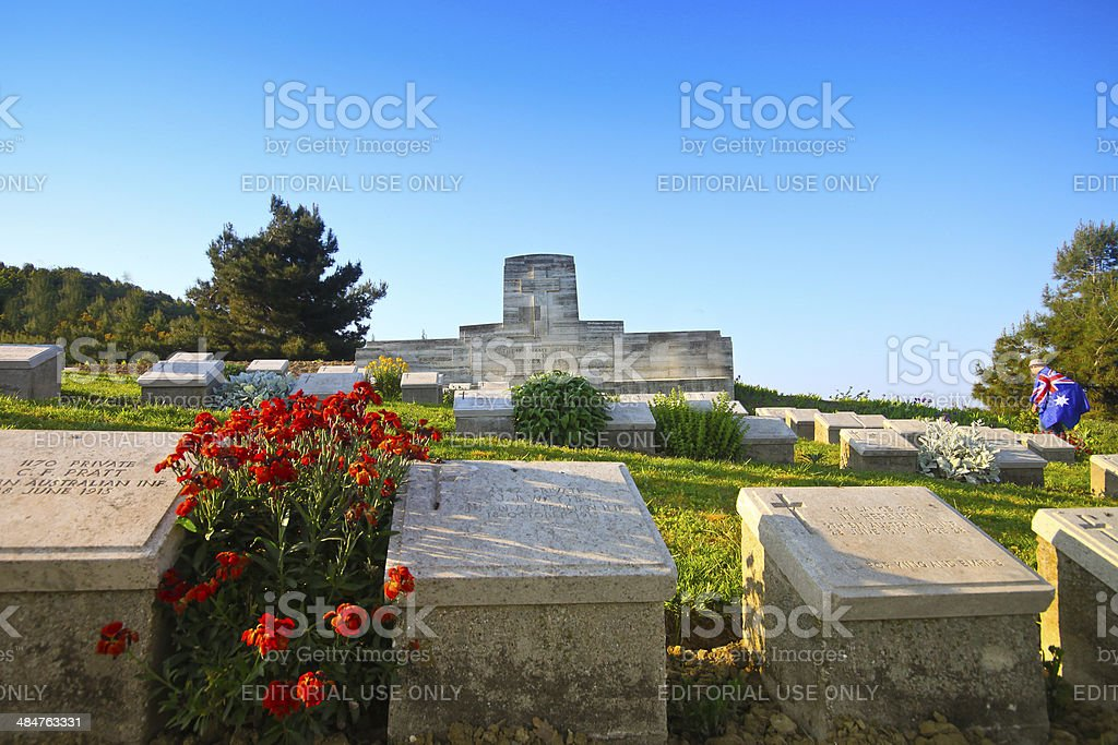 Australians visit Shell Green Cemetery, Gallipoli on ANZAC Day stock photo