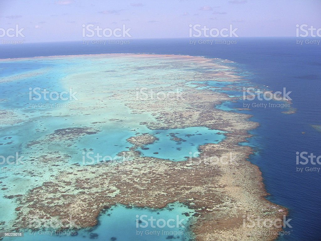 Australia's Great Barrier Reef (view from the air) royalty-free stock photo