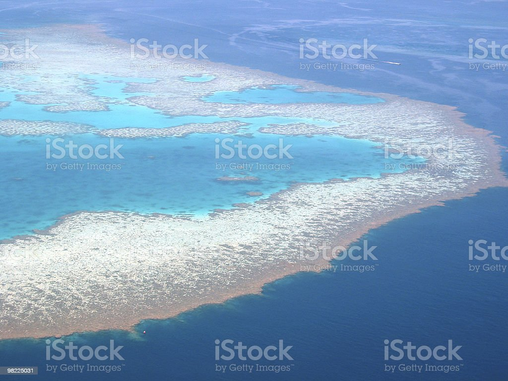 Australia Grande barriera corallina (vista dall'alto foto stock royalty-free