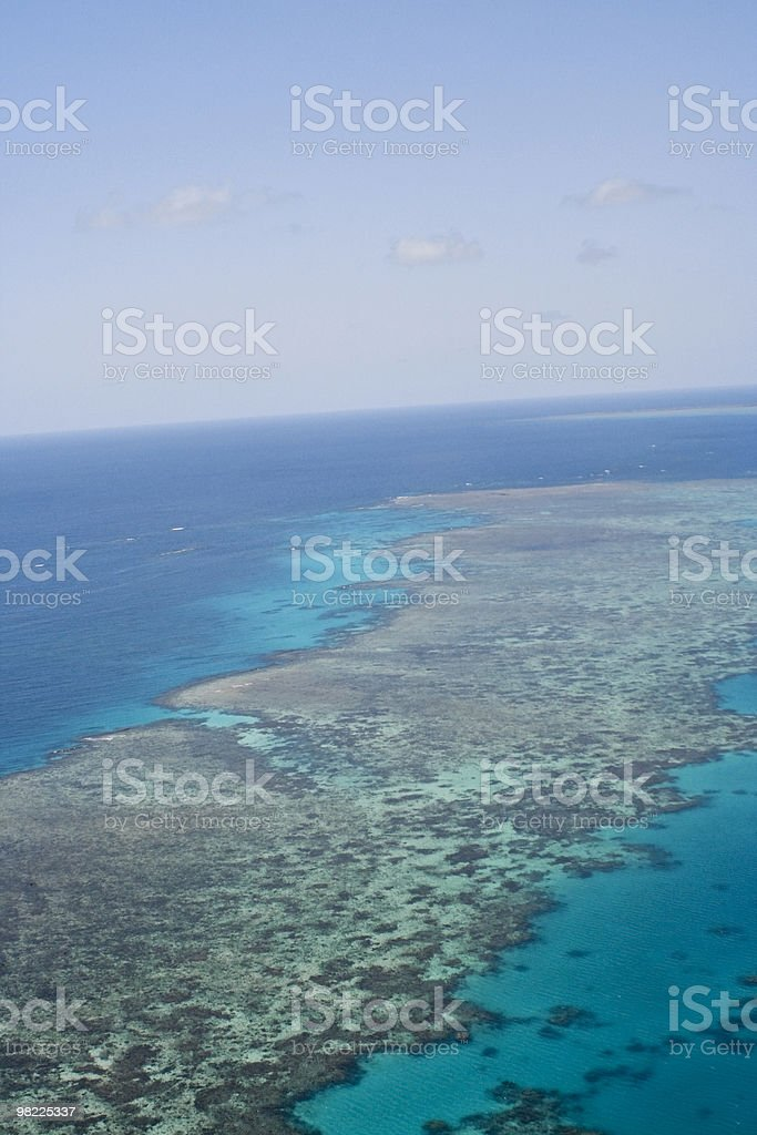 Australia's Great Barrier Reef (High Resolution aerial shot) royalty-free stock photo