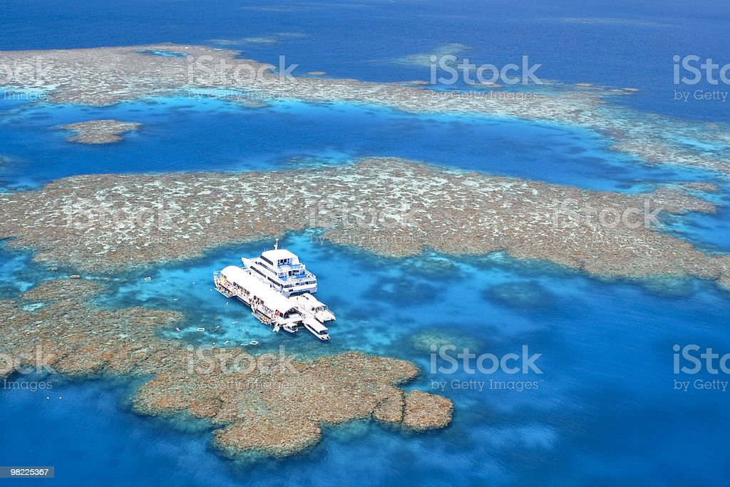Australia's Great Barrier Reef (High Resolution aerial shot) stock photo