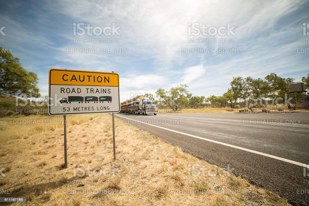 Australia's outback Road Trains stock photo