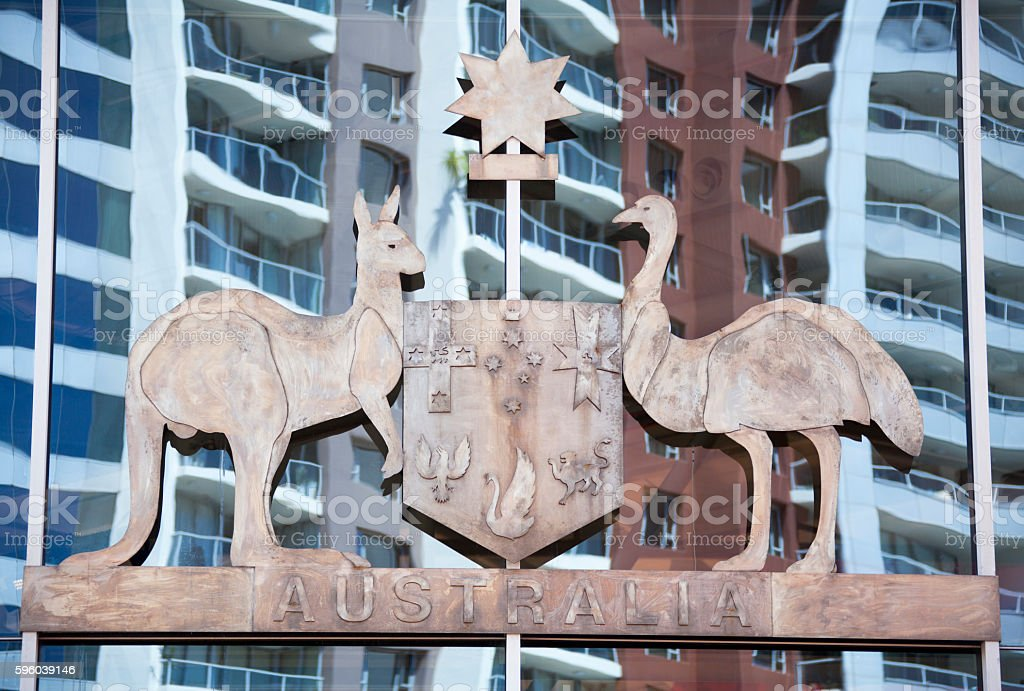 Australia's State Emblem stock photo