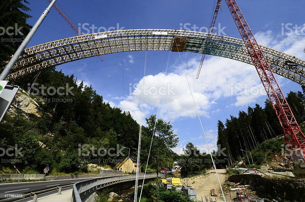 Austria, bridge construction royalty-free stock photo