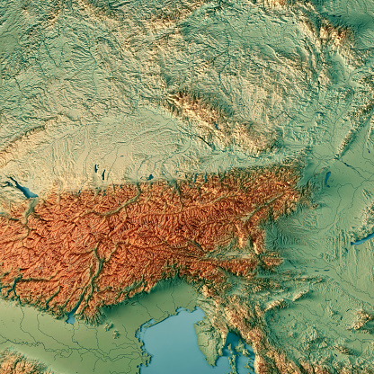 topographic map of austria Austria Country 3d Render Topographic Map Stock Photo Download
