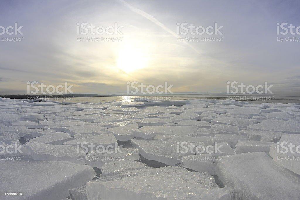 Austria frozen lake royalty-free stock photo