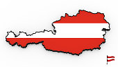 Austria high detailed 3D map