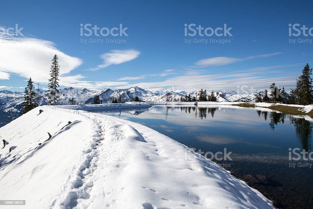 Austria Lake Bad Hofgaststein stock photo