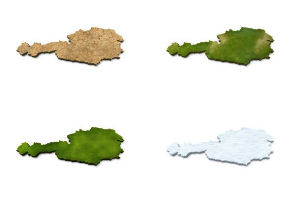 3D Austria Map stock photo