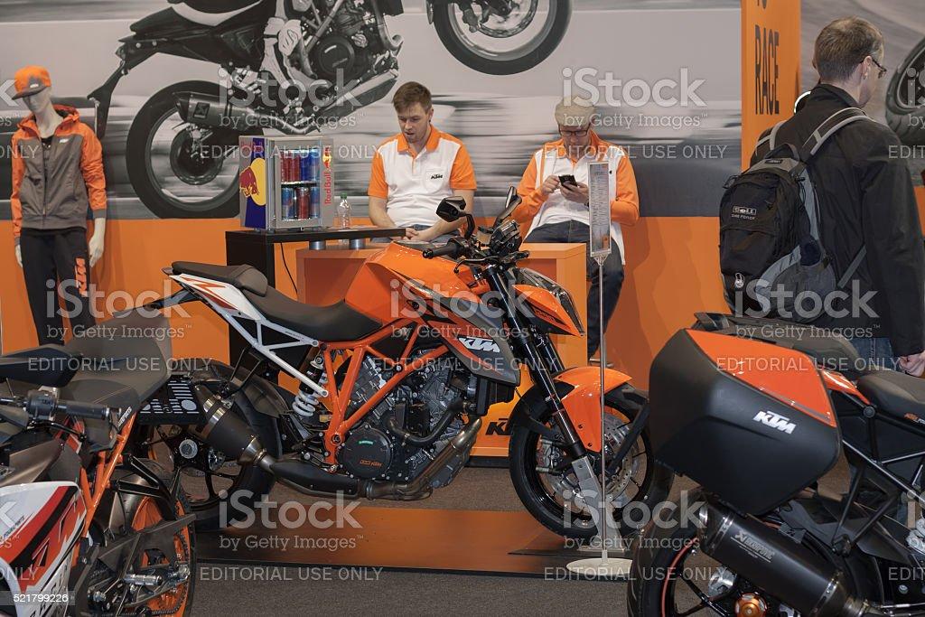 Austria Motorcycle KTM Super Duke R 1290 At Motosalon 2016 Royalty Free  Stock Photo