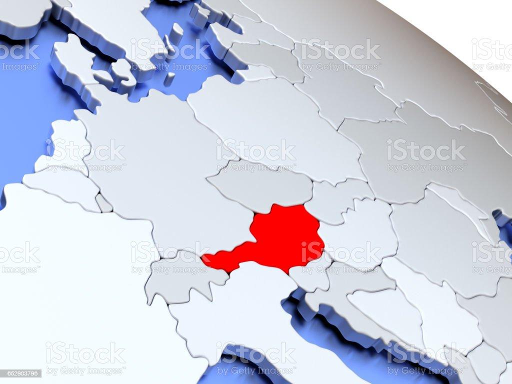 Österreich Auf Der Weltkarte Stockfoto und mehr Bilder von ...