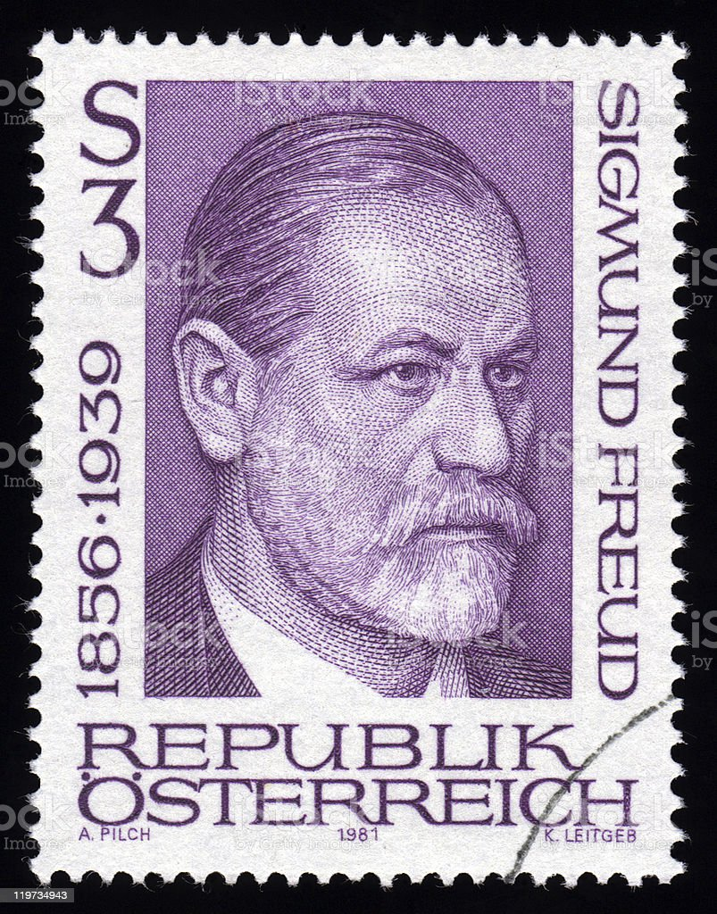 Austria Postage Stamp Sigmund Freud stock photo