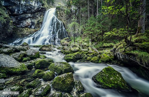 The Gollingfall or Gollinger wasserfall (sometimes named as Schwarzbachfall) is one of the most gorgeous waterfalls in Austria, located at Golling an der Salzach in the region Salzburg. The waterfall is set amidst pine trees and plunges 75 metres in 2 drops.
