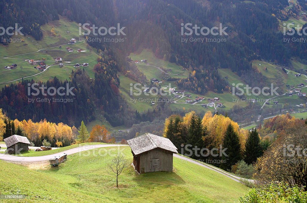 Austria Silbertal valley royalty-free stock photo