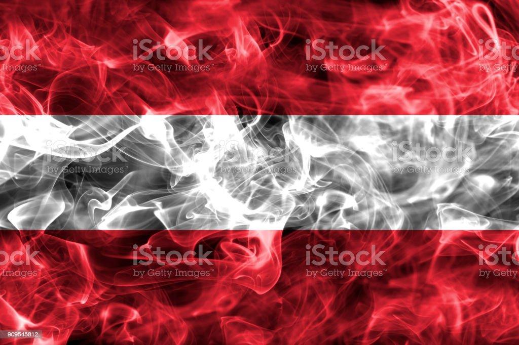 Austria smoke flag stock photo