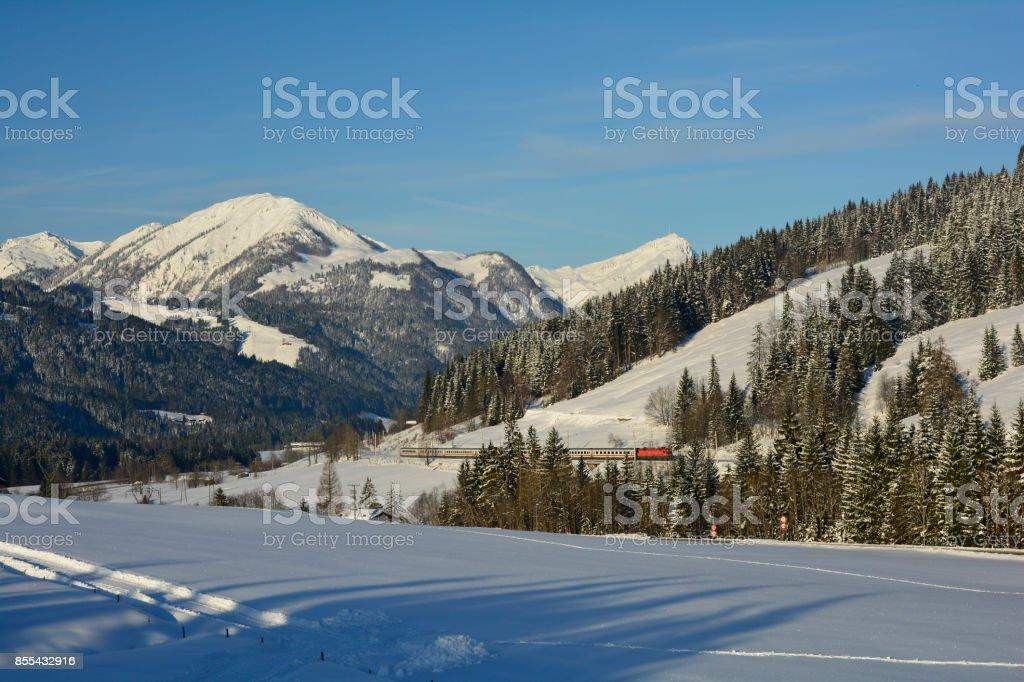 Austria, Tirol, WInter stock photo