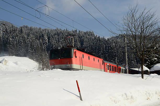 austria, train - winter austria train bildbanksfoton och bilder