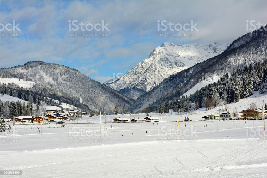 Austria, Winter landscape stock photo