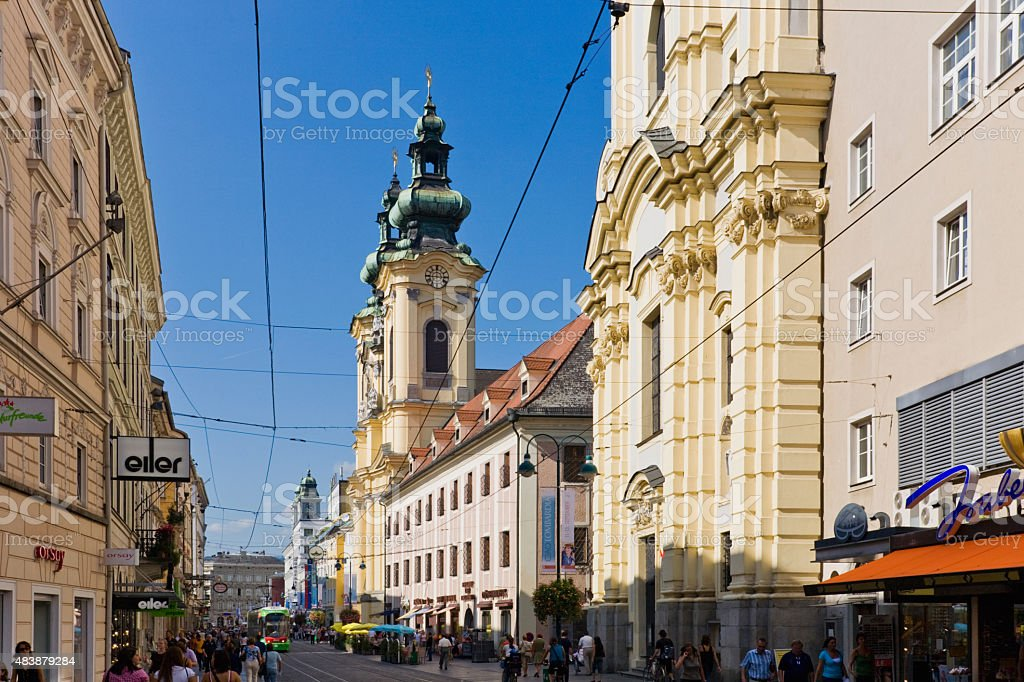Austria,Linz,Ursulinen Church stock photo