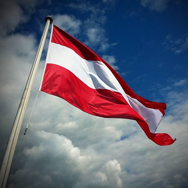 Österreichische Flagge – Foto