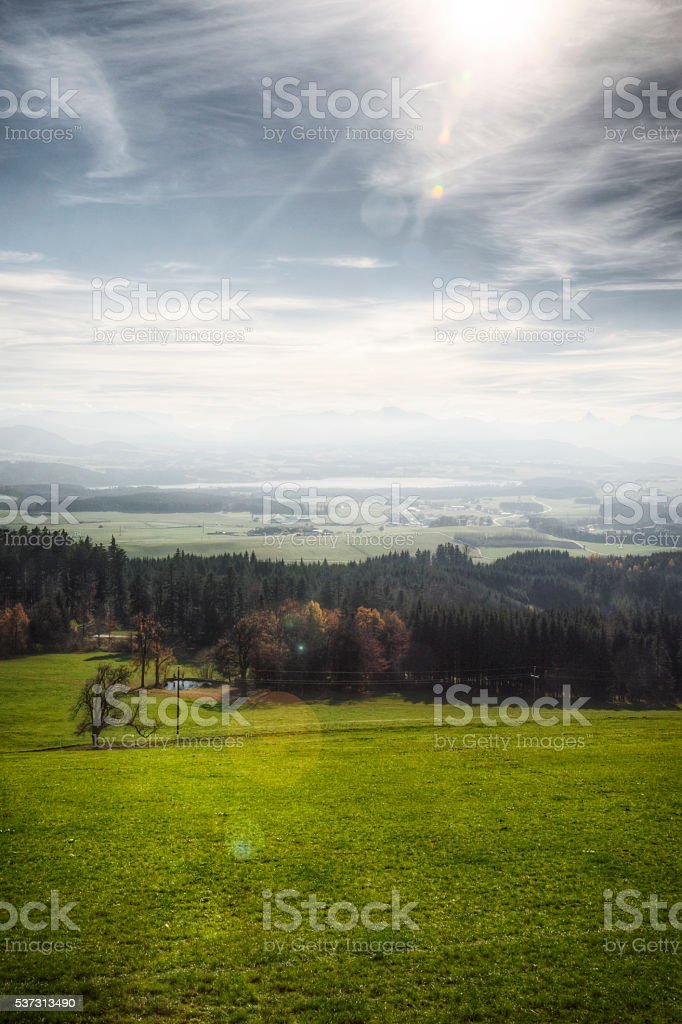Austrian Landscape in Autumn stock photo