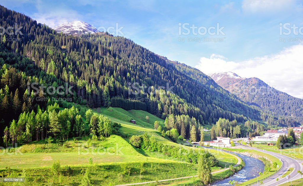 Paisagem Áustria foto de stock royalty-free