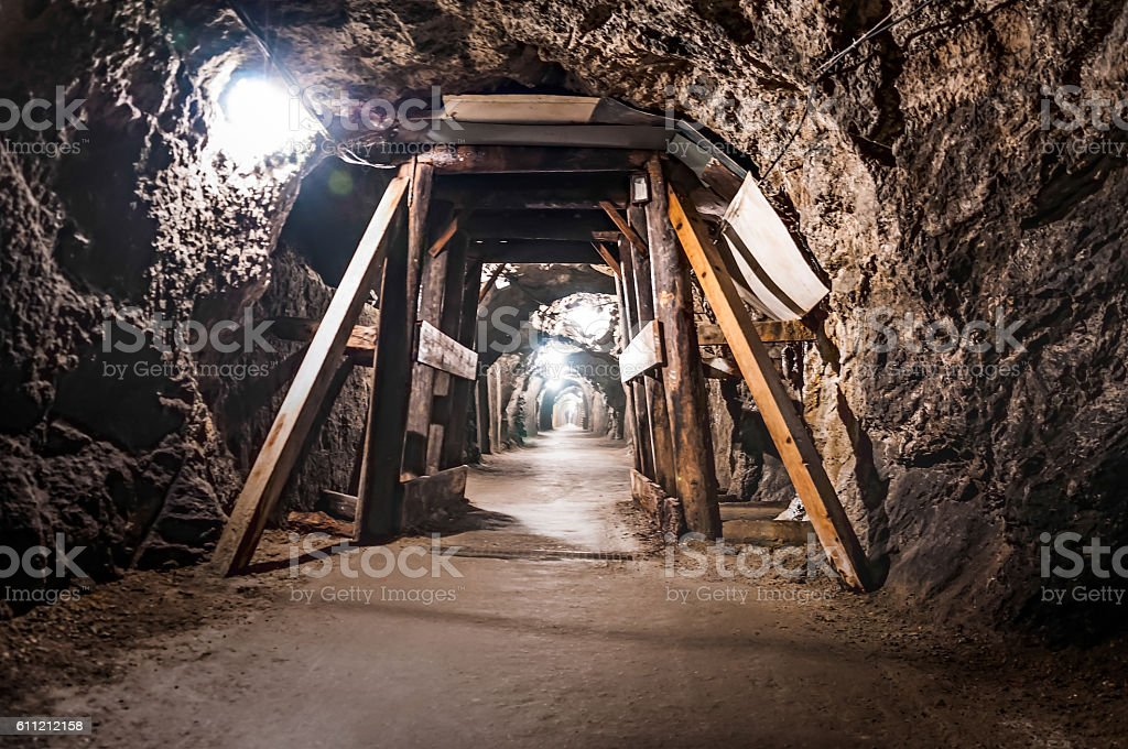Austrian mine stock photo