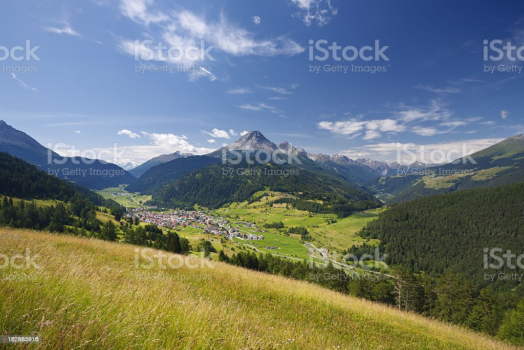 Austrian Mountain Landscape royalty-free stock photo