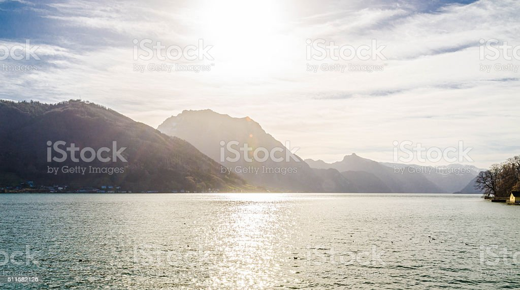 Austrian Mountain Range Dachstein Gebirge stock photo
