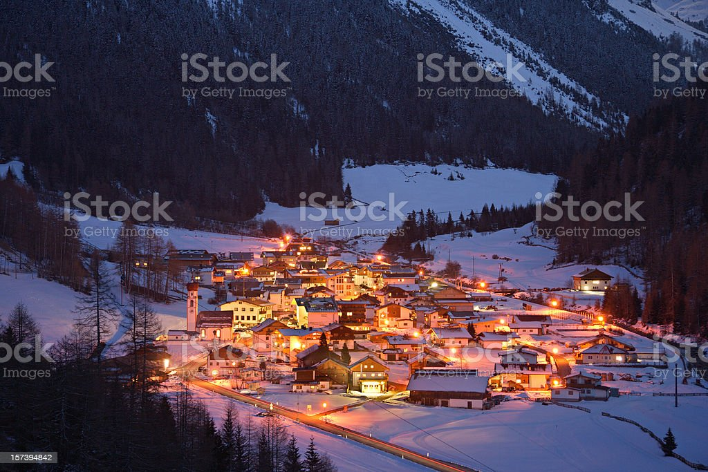 Austrian Mountain Village royalty-free stock photo
