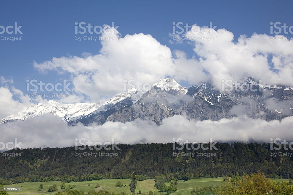 Austrian mountains royalty-free stock photo