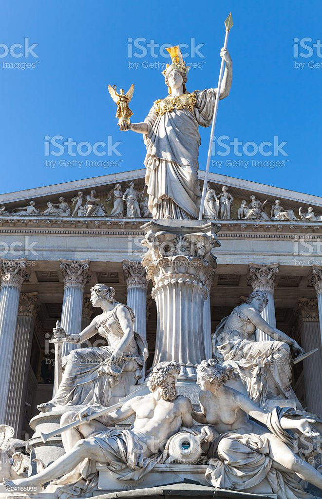 Austrian Parliament Building exterior, Vienna stock photo