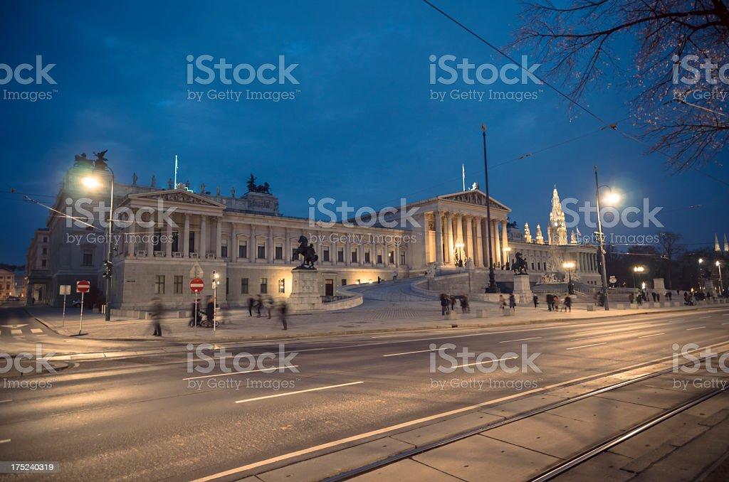 Austrian Parliament Building royalty-free stock photo