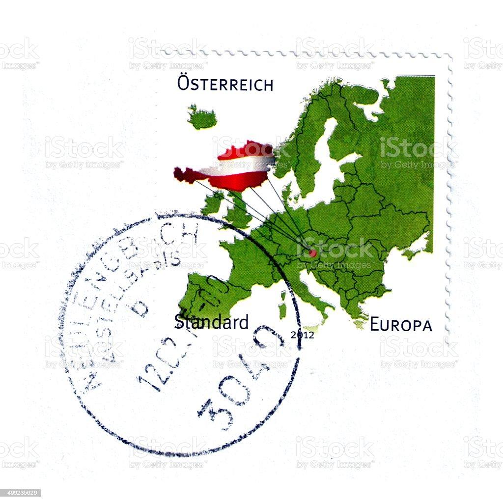 Austrian postage stamp stock photo