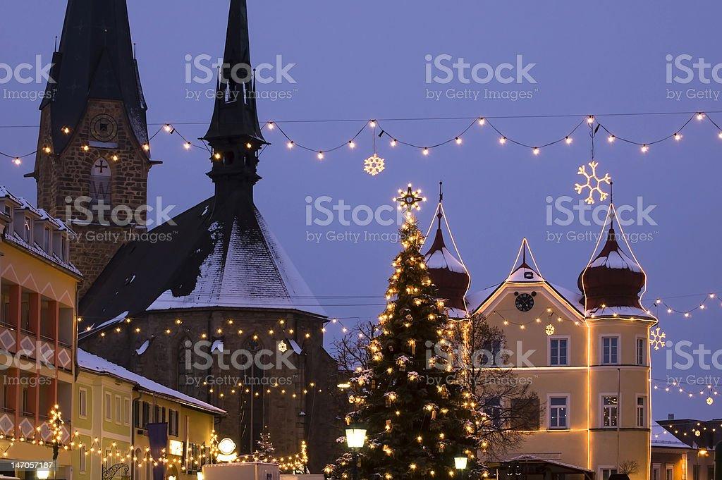 Austrian Village at Christmas royalty-free stock photo