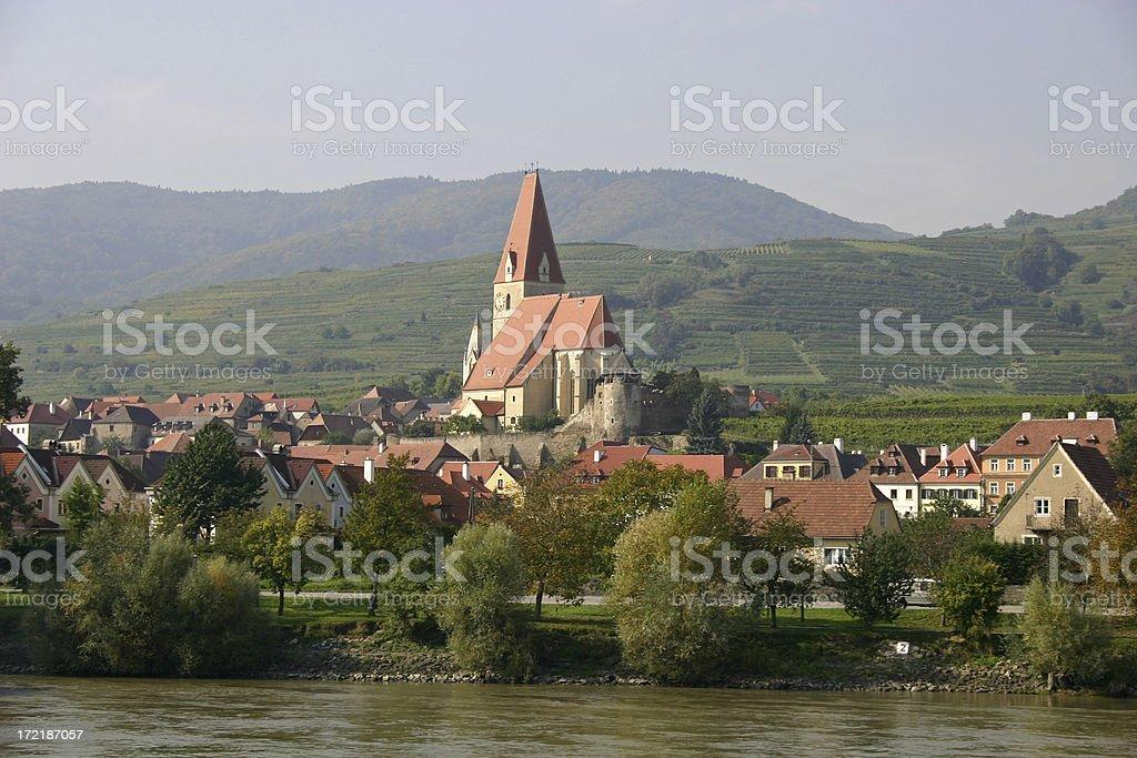 Austrian Village on the Danube royalty-free stock photo