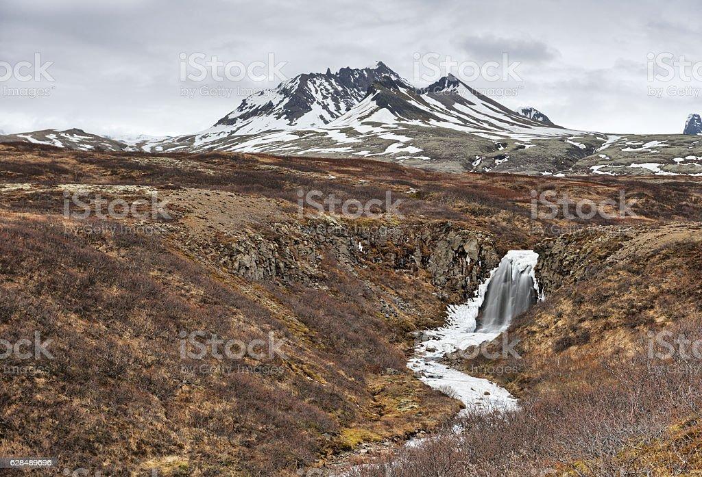 Austurheidarfoss, Iceland stock photo