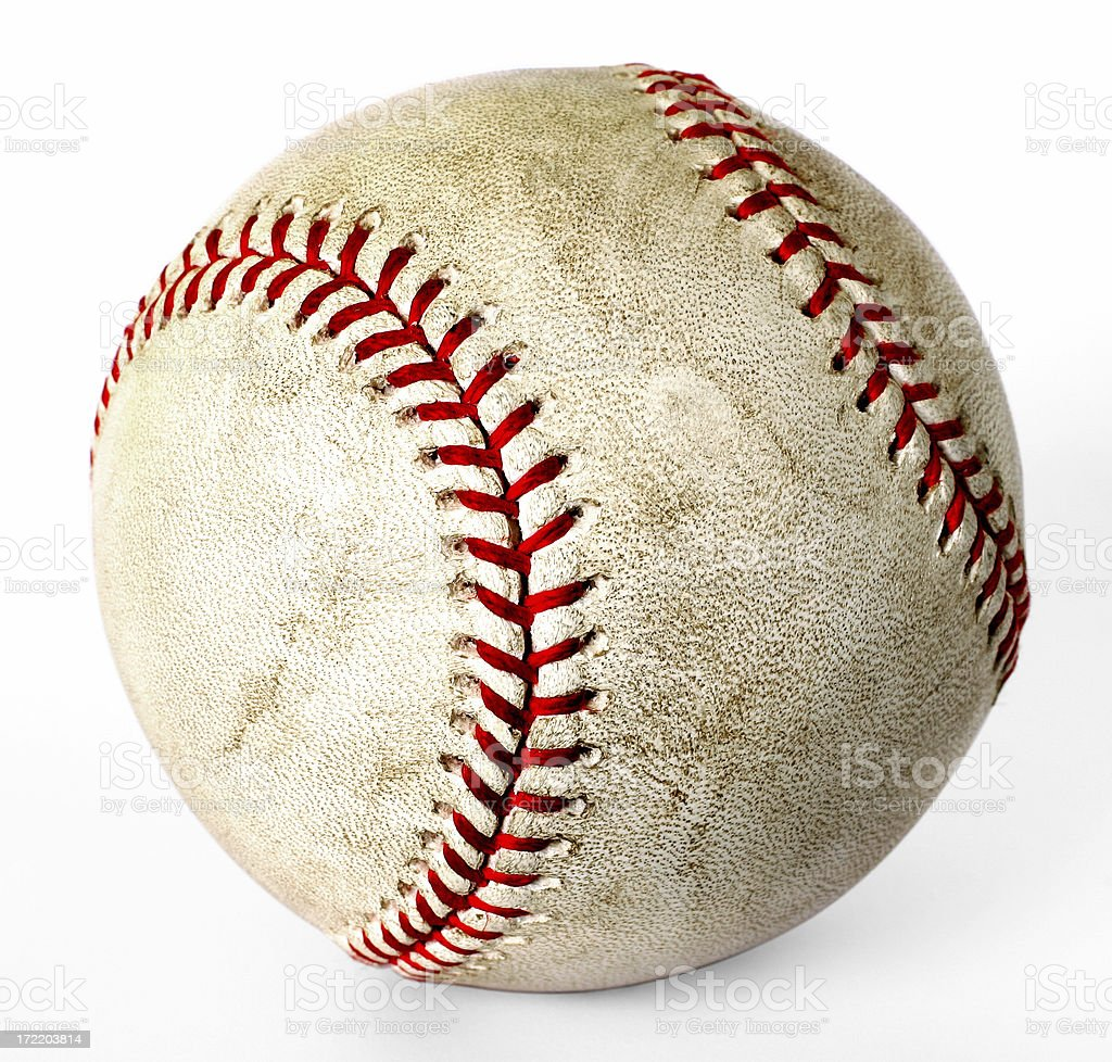 Authentic Baseball stock photo
