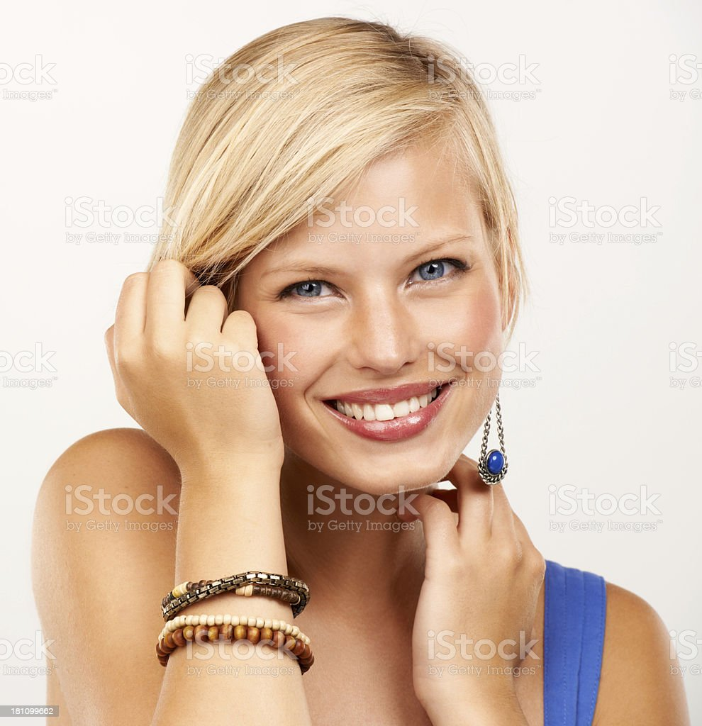 Authentic beauty royalty-free stock photo