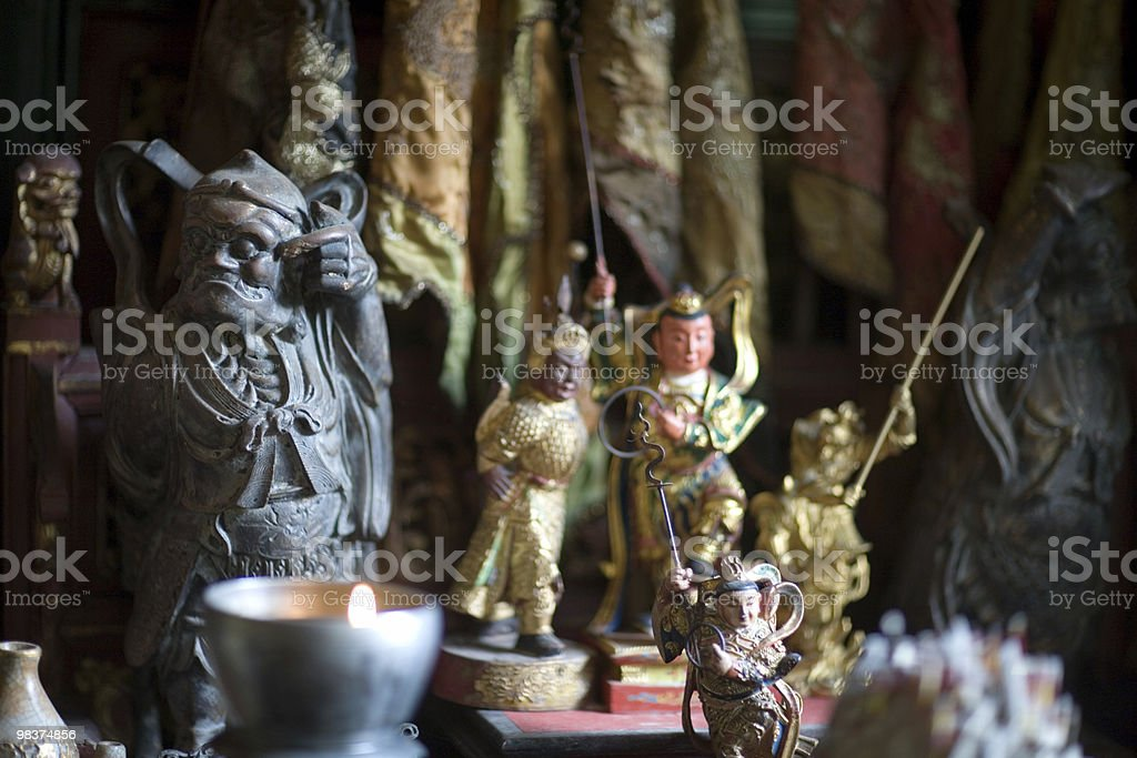 authentic Chinese home shrine royalty-free stock photo