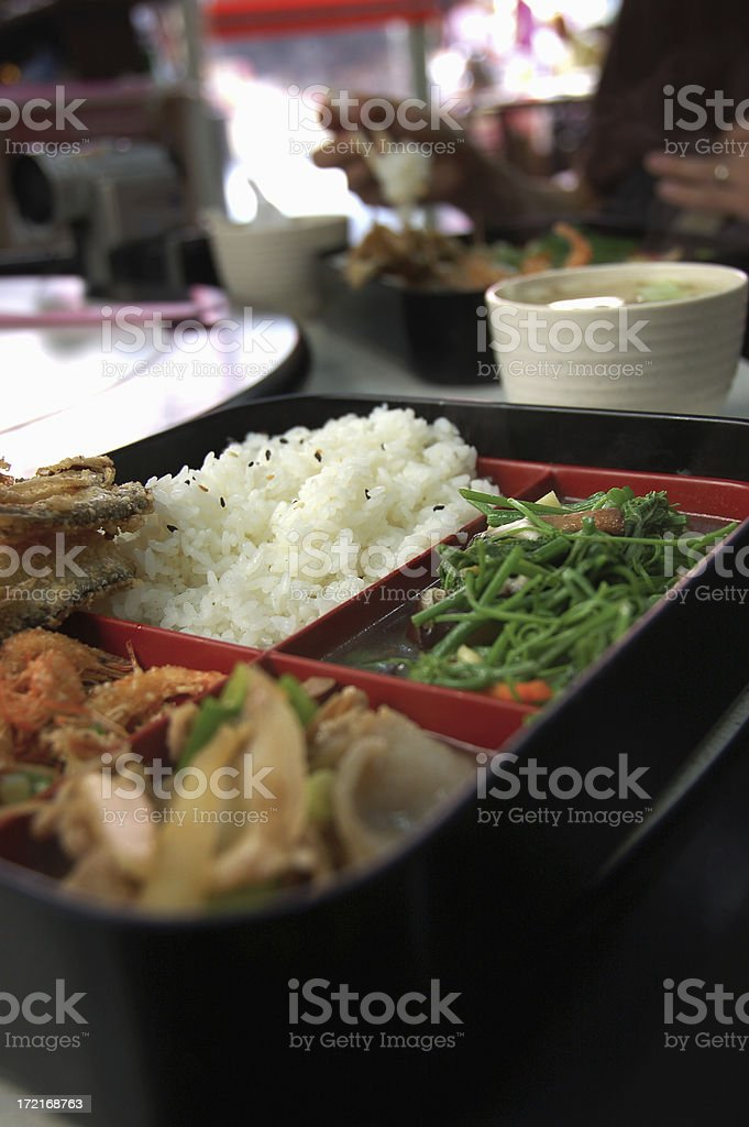 Authentic Chinese lunchbox royalty-free stock photo