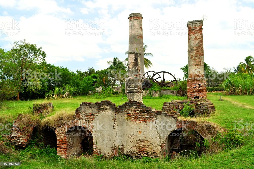 Authentic Cuban Old Sugar Cane Factory In Santa Lucia Cuba Royalty Free Stock Photo